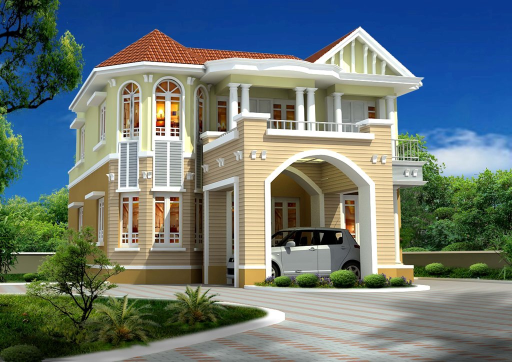 Beautiful house elevation designs gallery kerala home for Beautiful house design images